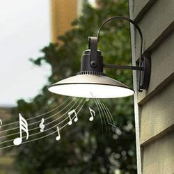LUTEC Darli 2000 Lumen 36W LED Outdoor Wall Light with Bluetooth, Exterior Light Fixtures Wall Mount, Farmhouse Lighting, Gooseneck Barn Light, Dusk to Dawn Led Outdoor Lighting-Grey