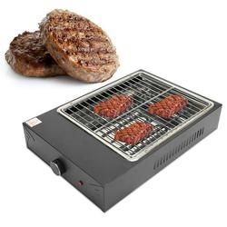 Mgaxyff Household Electric Grill,Electric Barbecue Grill,Portable Electric Grill Removable Non‑Stick BBQ Plate for Indoor Outdoor Cooking Barbecue Tool