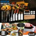 IMAGE 14 Pcs BBQ Grill Tool Set Stainless Steel Grilling Accessories for Cooking Backyard Barbecue, Outdoor Cooking Set Camping
