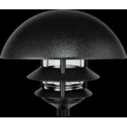 RAB Lighting Black 3 Tier Lawn Light w/Dome Top