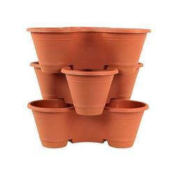 3 Tier Stackable Vertical Plastic Planter Mini Garden Herb Planter Indoor/Outdoor Use