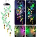 Solar Hummingbird Wind Chimes Lights Outdoor, Memorial Wind Chimes with Color Changing, LED String Lights with Bell, Garden Decoration Solar Lights for Home, Yard, Patio, Mom Gift