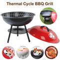 Portable Charcoal Grill for Outdoor 14 inch Barbecue Grill, Round BBQ Kettle Outdoor Picnic Patio Backyard Camping Tailgating Steel Cooking Grate for Steak Chicken