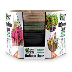 Smart Pot 5035683 16 in. Nococo Liner Hanging Basket, Black, Natural & Green