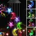 Solar Power String Lights, Color Changing LED Mobile Star Moon Wind Chimes, Hanging Mobile Waterproof Outdoor Decorative,Romantic Wind Bell Light,Solar Lights for Home/Yard/Patio/Garden