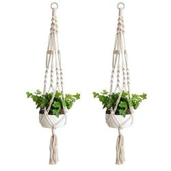 Macrame Plant Hangers Set, 1/2pcs Plant Holder, Indoor Wall Hanging Planter Basket Flower Pot Holder Home Decor, for Horticulture Landscaping, Office Plant, Shopping Malls, Hotels, Balconies, Gardens