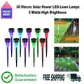 10pcs Solar Lights Outdoor - Outdoor Garden Lights, 7 Color Changing LED Solar Powered Pathway Lights