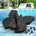 Upgrade 3 Types Plastic Water Fountain Pump, 1.4W Solar Powered Floating Pump with 5 Nozzle for Bird Bath, Garden, Watering Pool, Water Displays
