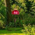 "OIENS Hummingbird Feeder - 28"" Sensation Pink Coneflower Bird Feeders for Outdoors Outside, Pink flower Bird Feeder Outdoor Garden Yard Decoration"