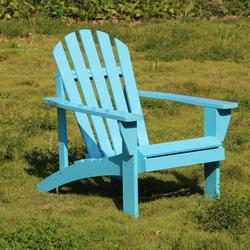 Wooden Outdoor Chairs, Outdoor Adirondack Lounge Chair, Adirondack Lawn Chairs w Back & Arm, Poolside Lounge Chair, Outdoor Chair Garden Balcony Backyard Patio Furniture, Blue, W8135