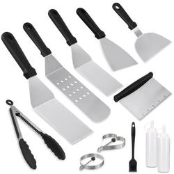6/7/12PCS BBQ Grilling Accessories Barbecue Tools Kit, Stainless Steel Grill Utensil Tools Set BBQ Grill Tools Set for Backyard Party, Tailgating, Camping