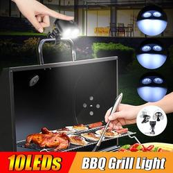 Grill Lights for Barbecue, Upgraded Barbecue Grilling Light with 10 LED Super Bright 360°Rotation, Durable & Waterproof & Heat Resistant for Grill Working/Reading/Camping