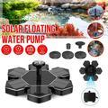Solar Fountain Brushless Pump Plants Watering Kit for Bird Bath Garden Pond Universal, Hexagon+Flower Shape, 2Pack