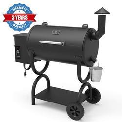 Z GRILLS ZPG-550B 2020 Upgrade Model Wood Pellet Grill & Smoker 6 in 1 BBQ Grill Auto Temperature Control, 550 sq Inch Deal, Black