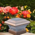8pc Garden Solar Plastic Copper Post Deck Cap for Fence Light Lighting