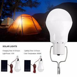 VicTsing Solar Lights, Solar Powered Led Light Bulb Portable Led Solar Lamp Spotlight with Solar Panel for Outdoor Hiking Camping Tent Fishing Lighting (2 Pcs)