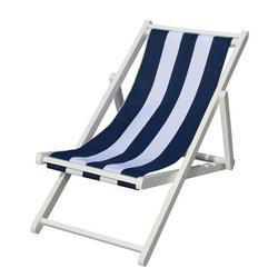 Sun Lounger Garden Backyard Lounge Chair Adjustable Wooden Outdoor Furniture for Beach Patio