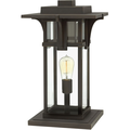 Outdoor Post 1 Light With Oil Rubbed Bronze Clear Beveled Aluminum Medium Base 18 inch 100 Watts