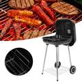ANGGREK Charcoal Grill,Zaqw Portable Household BBQ Charcoal Grill for Patio Camping Cooking Picnic Barbecue Accessories Tools,BBQ Charcoal Grill