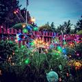 Solar Lights Outdoor - 2 Pack Solar Garden Lights Outdoor Decorative with 120 LED Powered 40 Copper Wires Multi Color Solar Fireworks Lights for Walkway Patio Backyard Yard Lawn Christmas-Mulit-Color