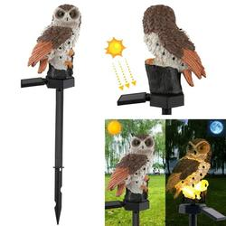 Garden Solar Lights Outdoor, Owl Shape Waterproof Solar Garden Lights, Outdoor Solar Lanterns Decorative Resin Owl Solar LED Lights with Stake for Pathway Walkway Yard Patio Lawn Wedding Party