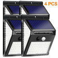 4 Pieces IP65 Waterproof Led Solar Lamp,3 Intelligent Brightness Lighting Modes,140 LED 800 Lumens of Solar Lamps for Outdoors with Motion Detectors