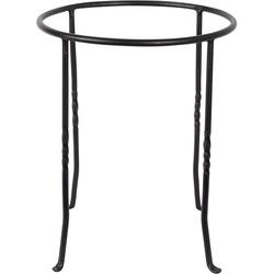 Achla Designs FB-14 Ring Wrought Iron Metal Plant birdbath Bowl Stand Flowerpot Holder, Black, Great for indoor and outdoor use: The Acela Designs ring stand base is a.., By Brand Achla