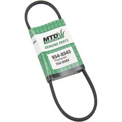 MTD 954-0343 Drive V-Belt Replacement for Lawn Mowers,Genuine Mtd Lawn Mower Belt By Brand MTD Genuine Parts