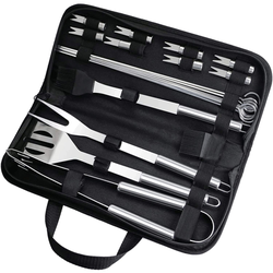 Fixget Grill Set, Grilling Accessories, 20 Piece BBQ Grill Tools Set Extra Thick Stainless Steel Spatula, Fork& Tongs. Complete Barbecue Accessories Kit with Storage Case