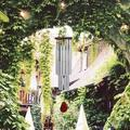 27 Tubes Metal Silver Tube Wind Chime Pine Wood Church Bells Garden Outdoor Home Windchimes Gift Hanging Decorations