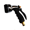 Garden Hose Nozzle Thumb Control On Off Valve, Heavy Duty Metal Water Nozzle, Patent Watering Patterns, High Pressure Hose Nozzle Sprayer,Garden Hose Spray for Car Washing and Pets Showering