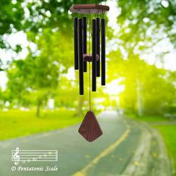 ASTARIN Memorial Wind Chimes Outdoor Large Deep Tone, 30 Inch Wind Chime Outdoor, Sympathy Wind-Chime Personalized with 6 Tuned Tubes, Elegant Chime for Garden Patio Balcony and Home Matte Black