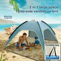 Large Upgrade Kids Beach Tent,Pop up Beach Tent Sun Shelter Outdoor Sun Umbrella,UV 50+ Waterproof Tent,3-4 Person Tent,Best Summer Gift for Kids,82.7 x 82.7 x 51.1�