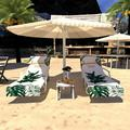 ZEROFEEL Lazy Lounger Beach Towel Chair Covers With Pockets Quick Drying Beach Lounge Chair Cover Towel Bag For Hotel Holiday Sunbathing