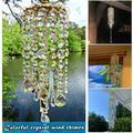Htovila wind chimes cross-border wind chimes crystal wind chimes color wind chimes colorful wind chimes wind chimes ornaments glass wind chimes 220g in bubble bag