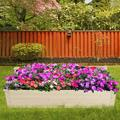 GoDecor Wooden Raised Garden Bed Elevated Planter Box