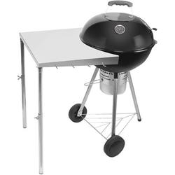 """Stanbroil Stainless Steel Work Table Fits All Weber 18"""", 22"""" Charcoal Kettle Grills and Other Similar Size Charcoal Kettle Grills -Patent Pending"""