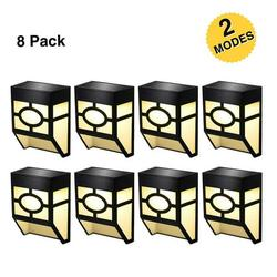 AUPERTO Solar Deck Lights, 2 Modes Night Lights Wall Mount Fence Post Lights LED Wall Light for Patio, Fence, Deck, Yard, Warm/Color Changing, 8 Pack