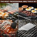 Birald Grill Set BBQ Tools Grilling Tools Set Gifts for Men, 34PCS Stainless Steel Grill Accessories with Aluminum Case,Thermometer, Grill Mats for Camping/Backyard Barbecue,Grill Utensils Set for Dad
