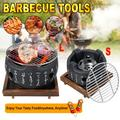 Japanese Style BBQ Grill Charcoal Grill Aluminium Alloy Portable Barbecue Tools