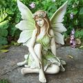 Flower Fairy Ornament Exquisite Beautiful Statue Decoration Angel Garden Figurines Resin Sculpture Yard Art Lawn Ornament Garden Decor For Outside Housewarming Garden Gift