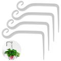AMGRA Plant Holder Flower Hanging Holder Iron Wall Hook Flower Hanging Wall Holder Hook for Hanging Planters Birdhouses Lantern Wind Chimes Wall Sconces 4PCS WHITE