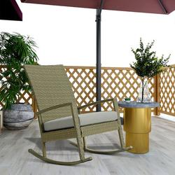 Outdoor Garden Rocking Chair Patio Rattan Chair Clearance On Sale Wooden Rocking Chair Nursery Glider Chairs, Rocking Chairs Camping for Indoor Living Room Outside