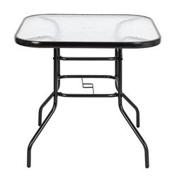 Brongsleet Outdoor Dining Table Square Toughened Glass Table Yard Garden Poolside Balcony Bistro Glass Table,Patio Table,High Top Table,Patio Side Table,Bistro Table,Outdoor Bar Table