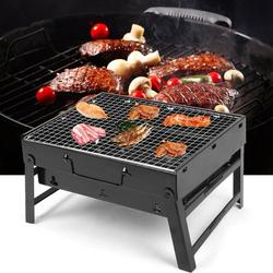 Kritne Portable Stainless Steel Folding Barbecue Grill BBQ Charcoal Grill for Camping Outdoor, Stainless Steel Barbecue Grill, Folding Barbecue Grill