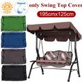 77 Inch Waterproof Replacement Porch Swings Canop Seat Top Cover, For UV Protection & Blocking Sun Shade & Rain Shelter,Suit For 2-3 Person Canopy Chair Seat