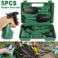 Willstar 5 Pcs/set Garden Hand Tools Gifts with Shovel Classic Garden Tools Set Garden Tools Set with Durable Storage Bag