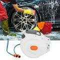 Mgaxyff Wall Mounted Hose Reel,Wall Mounted Retractable Garden Water Hose Reel with 20m Pipes Watering Equipment,Hose Reel