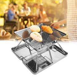 OTVIAP Barbecue Grill,Stainless Steel Folding BBQ Grill Portable Barbecue Grill Accessories for 3-4 People Picnic,Barbecue Accessories