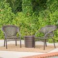 Hamburg Wicker 3 Piece Outdoor Stacking Chair Chat Set